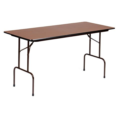 counter height folding table correll 72 in rectangle counter height folding table