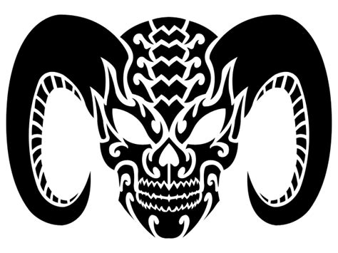 demon skull tribal no eyes by shadow696 on deviantart