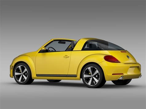 vw beetle targa 2016 3d model max obj 3ds fbx c4d
