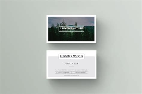 free creative nature artists business card design template