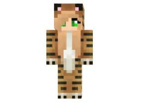 Tiger onsie girl skin tiger onsie girl minecraft skin