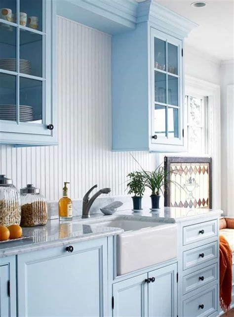 light blue kitchen cabinets light blue kitchen cabinets colors with white apron