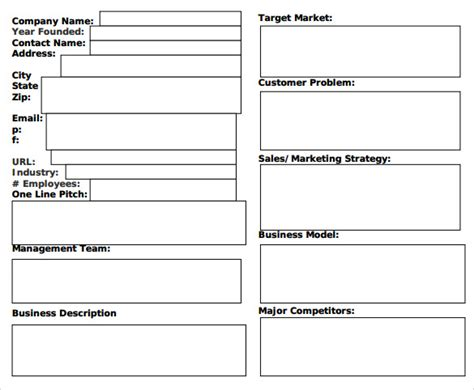 generic business template sle generic business 7 documents in pdf word