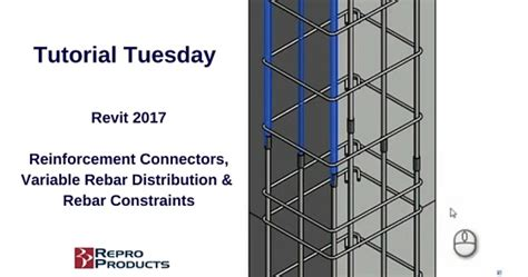 tutorial revit 2017 tutorial tuesday revit 2017 reinforcement connectors