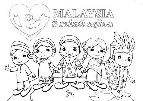 gambar contoh poster hari kemerdekaan poster mewarna malaysia sehati sejiwa gambar mewarna