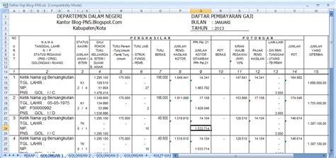 format gaji guru excel cara menghitung gaji pegawai negeri menggunakan excel