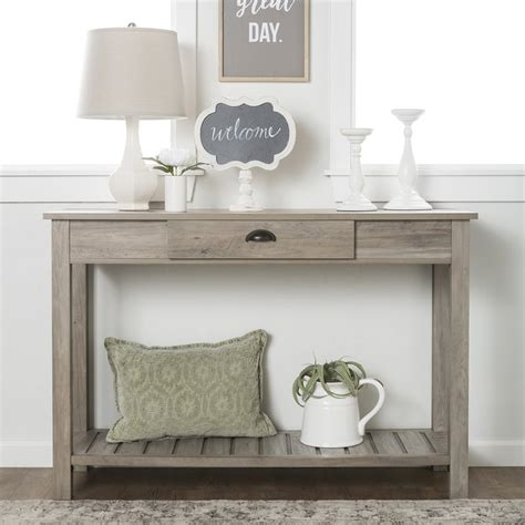 gray wood console table gray console table home ideas
