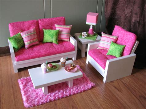 18 Doll Furniture American Girl Sized Living Room Doll Living Room Furniture