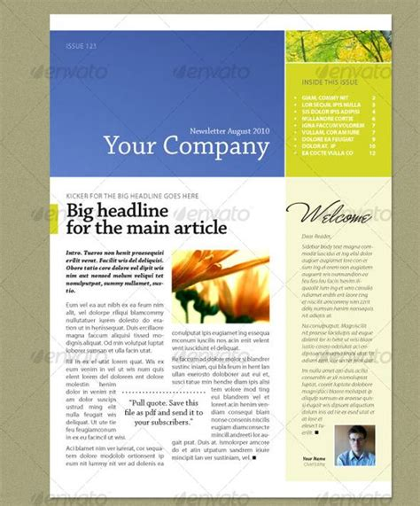 newsletter layout templates free indesign newsletter template flyer ideas