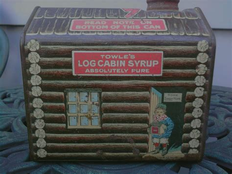 the from the tin cabin books towle s log cabin syrup tin copyrighted 1914 collectors
