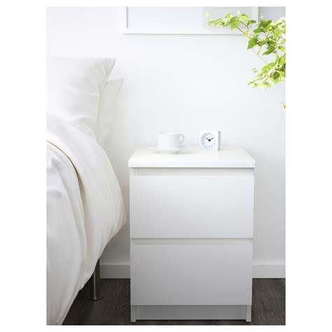 ikea malm nightstand white malm chest of 2 drawers white 40x55 cm ikea