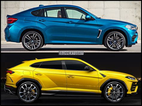 lamborghini urus photo comparison lamborghini urus vs bmw x6 m