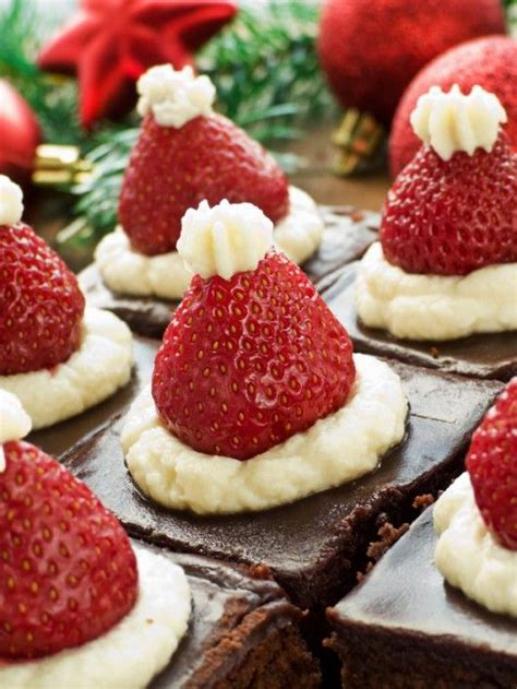 christmas desserts santa hat and desserts on pinterest