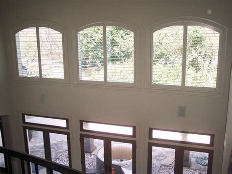 high window coverings plantation shutters in to cover high windows