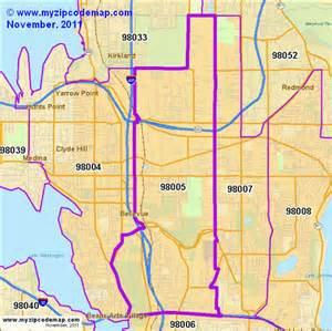 Bellevue Zip Code Map zip code map of 98005 demographic profile residential