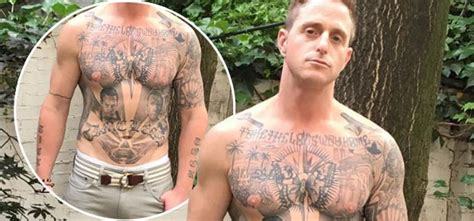 cameron douglas tattoos michael douglas shows ab after being
