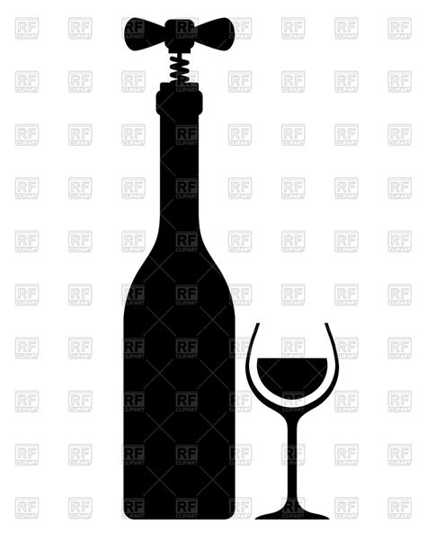 wine silhouette silhouette of wine bottle with corkscrew vintage wine