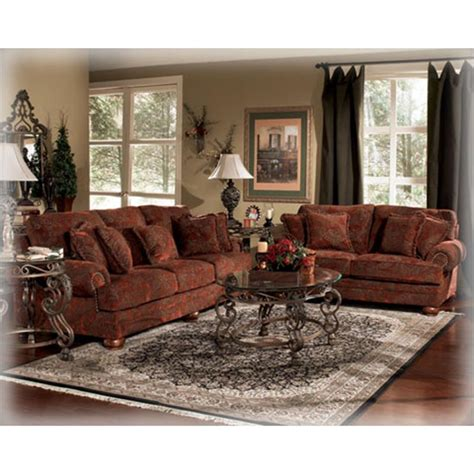ashley furniture burlington sienna living room loveseat