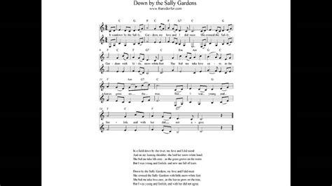 down by the sally gardens lyrics