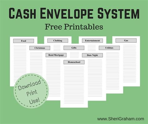 free printable cash envelope system cash envelope system