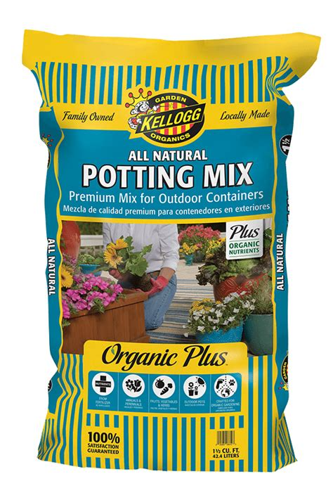 Kellogg Garden Products by All Potting Mix Premium Mix For Outdoor Containers