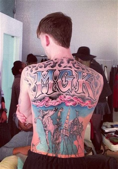 mgk s tattoos gt gt gt mgk machine gun