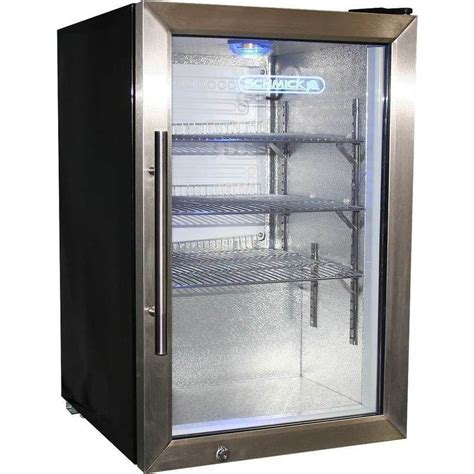 2 shelf lockable glass door mini bar fridge 68l buy mini