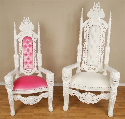 Painted Wooden Chairs Queen Lion Throne Chair White Amp Pink