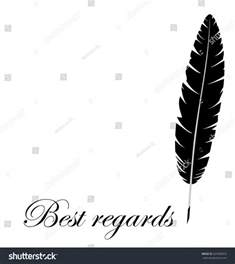 thanksgiving email signatures black single feather with inscription quot best regards