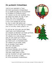 weihnachtsgedicht f 252 r werkstattarbeit in der grundschule