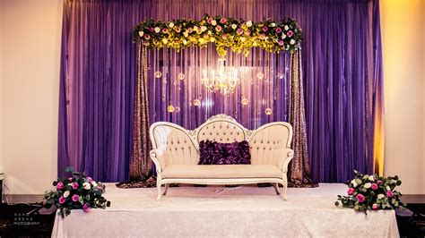 Wedding Backdrop With Chandelier by Lilac Engagement Stage Draped Backdrop With Fresh Floral