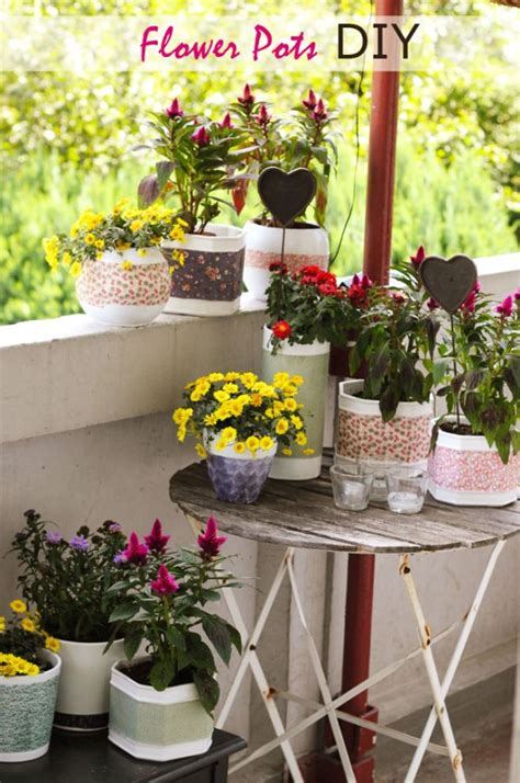 10 ways to decorate your flower pots