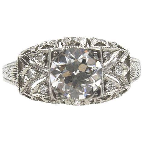 Original Engagement Rings by Deco Original Platinum Engagement Ring For