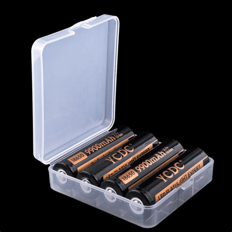 Dijamin Transparent Battery For 4x18650 white battery for 4x18650 8x16340 battery holder protection box lots 1890 ebay