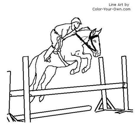 coloring pictures of horses jumping warmblood jumping saddle coloring page