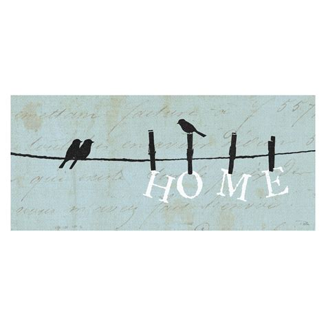 Canvas Decor Bird On Wire birds on a wire 1 canvas wall 20w x 8h in at hayneedle