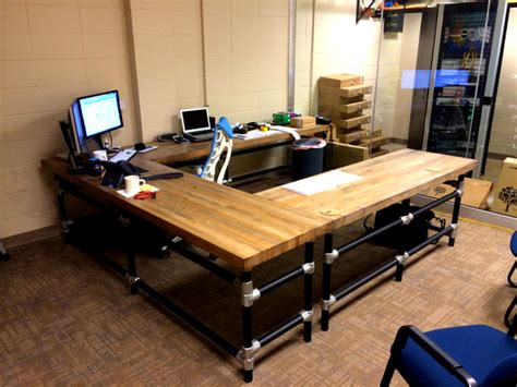 Workbench Computer Desk by U Shaped Butcher Block Work Bench With Matching
