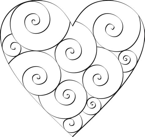 Don T Eat The Paste Swirl Hearts To Color Swirls Coloring Pages