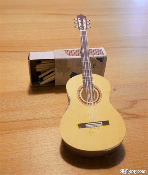 How To Make A Guitar With Paper - guitar digitprop paper design
