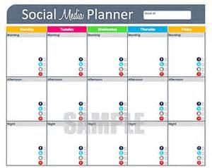 Social Media Planning Calendar Template by Social Media Planning Calendar Template
