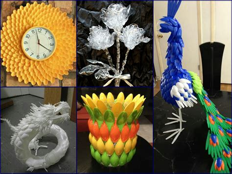 home decor made from recycled materials plastic spoon craft ideas recycled home decor forks