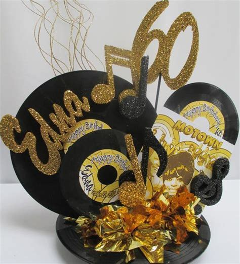 Motown Record Centerpiece ? Designs by Ginny