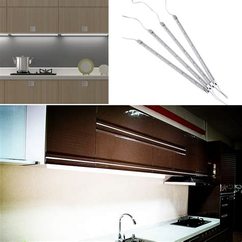 kitchen cabinet led lighting kits 4pcs kitchen home cabinet counter 15 led practical light bar kit ebay