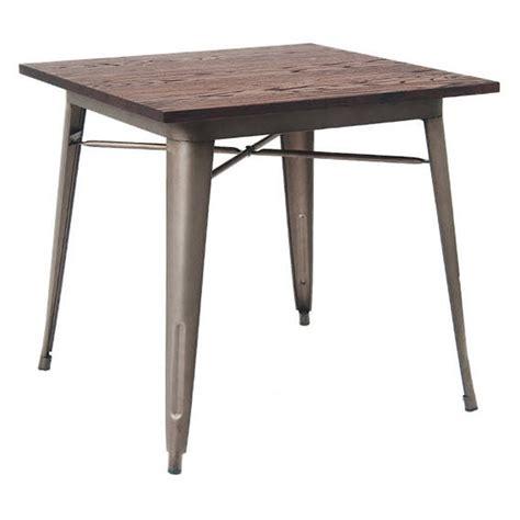 wood table with metal legs industrial series restaurant table with metal legs and