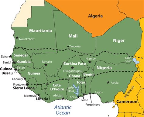 map of west africa west africa images