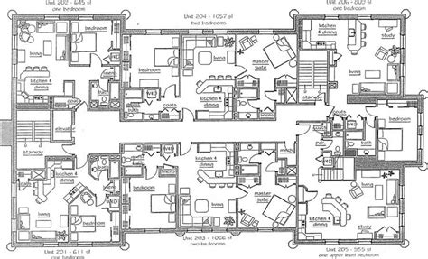 emejing 4 unit apartment building plans gallery home multi family plan w3064 detail catchy collections of