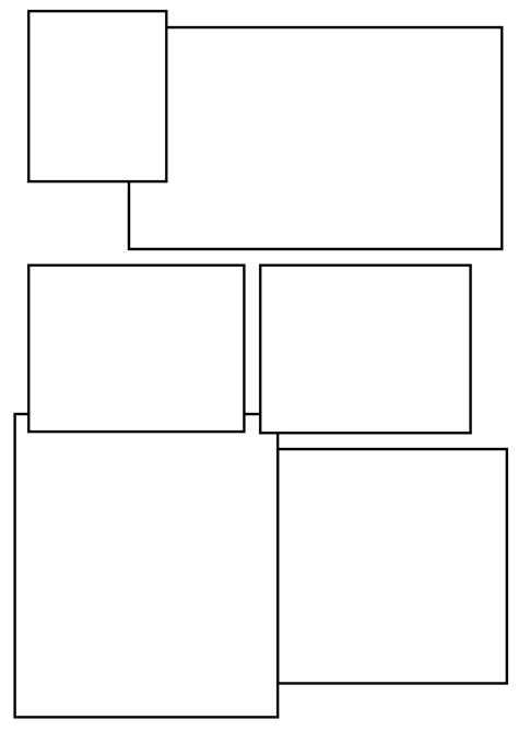 comic book panel template blank comic page 3 by c0nn0rman43 deviantart on