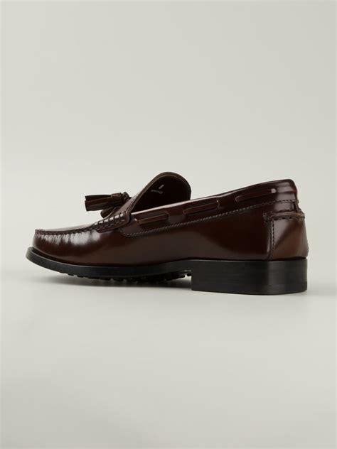 tods loafers for tod s tassel loafers in brown for lyst