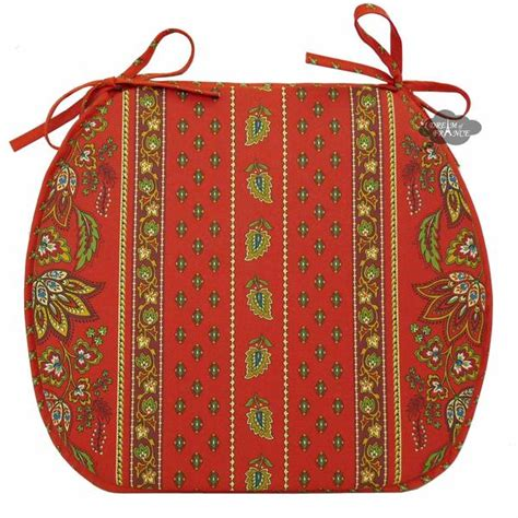 lisa red coated french style chair pad  le cluny