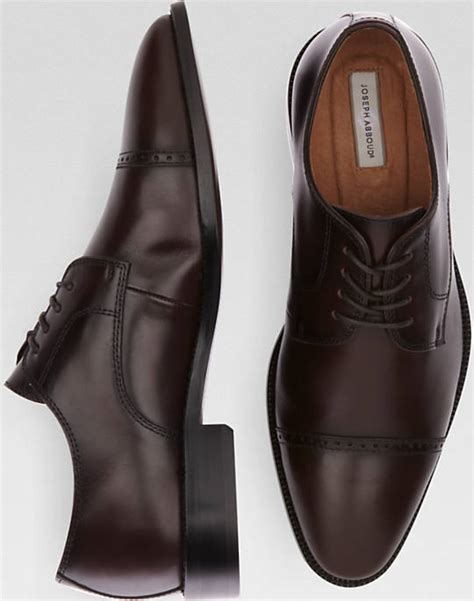 Sepatu Roma Casual joseph abboud calvin burgundy cap toe lace up shoes
